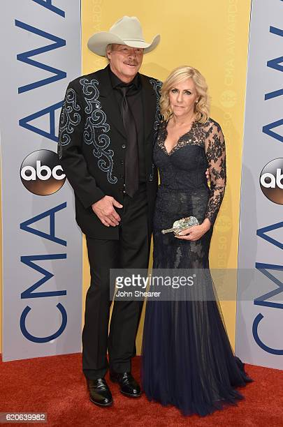 Alan Jackson and wife Denise Jackson attend the 50th annual CMA Awards at the Bridgestone Arena on November 2 2016 in Nashville Tennessee
