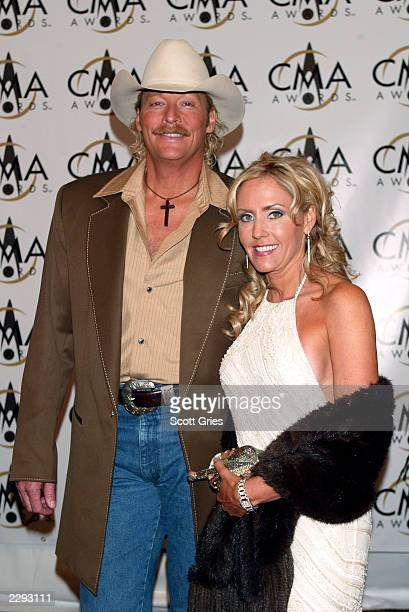 Alan Jackson arrives with his wife Denise at the 36th annual Country Music Association Awards at the Grand Ole Opry House in Nashville Tennessee...