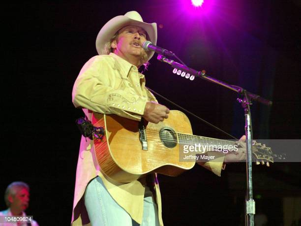 Alan Jackson during Alan Jackson in concert at the Arrowhead Pond at Arrowhead Pond in Anaheim California United States