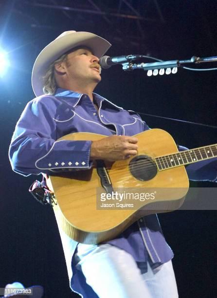 Alan Jackson during Alan Jackson Performs in Kansas City on May 30 2002 at Verizon Wireless Amphitheater in Bonner Springs Kansas United States