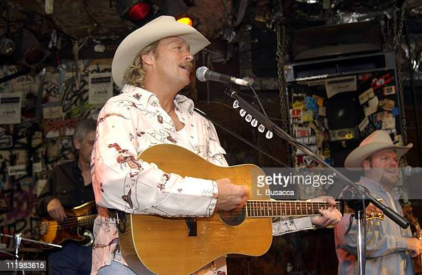 Alan Jackson during performance at CBGB's during Alan Jackson makes rare club appearance at CBGB's in New York City, New York, United States.