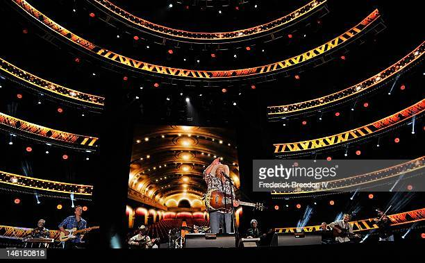 Alan Jackson performs at LP Field during the 2012 CMA Music Festival on June 10 2012 in Nashville Tennessee