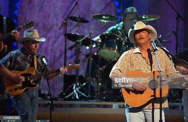 Alan Jackson performs 'It's 5 O'Clock Somewhere' during 37th Annual CMA Awards Show at The Grand Ole Opry in Nashville TN United States