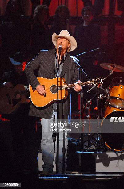 """Alan Jackson performs """"Like Red on a Rose"""" during The 40th Annual CMA Awards - Show at Gaylord Entertainment Center in Nashville, Tennessee, United..."""
