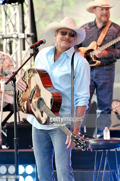 Alan Jackson performs on NBC's Today at Rockefeller Plaza on July 17 2015 in New York City