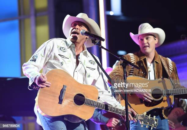 Alan Jackson performs on stage at the 53rd Academy of Country Music Awards at MGM Grand Garden Arena on April 15 2018 in Las Vegas Nevada