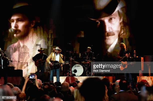 Alan Jackson performs onstage at the 51st annual CMA Awards at the Bridgestone Arena on November 8 2017 in Nashville Tennessee