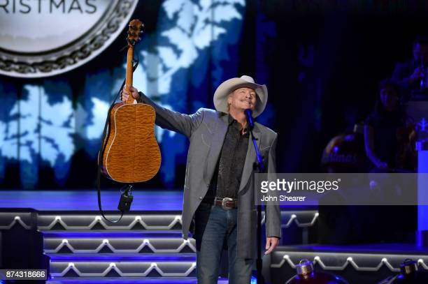 Alan Jackson performs onstage for CMA 2017 Country Christmas at The Grand Ole Opry on November 14 2017 in Nashville Tennessee