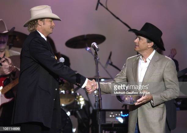 Alan Jackson Presents George Strait with the Gene Weed Special Achievement Award at the 38th Annual Academy of Country Music Awards