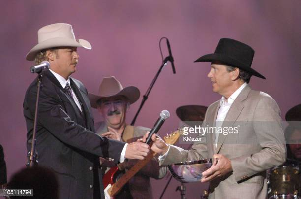 Alan Jackson presents George Strait with the Gene Weed Special Achievement Award
