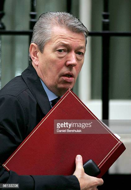 Alan Johnson Britain's Trade and Industry Secretary leaves 10 Downing Street on November 10 2005 in London England Prime Minister Tony Blair met his...