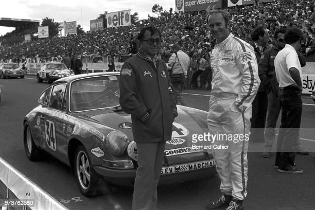 Alan Johnson John von Neuman Porsche 911S 24 Hours of Le Mans Le Mans 13 June 1971 Driver Alan Johnson with team owner John von Neuman