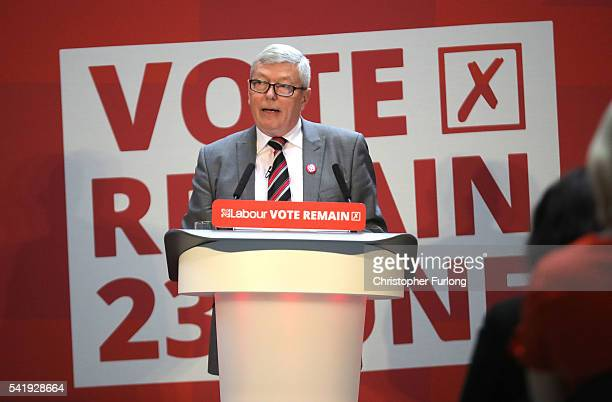 Alan Johnson speaks as Labour Leader Jeremy Corbyn addresses an audience at the People's History Museum and sets out the reasons why Labour is voting...