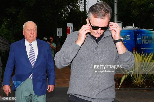 Alan Jones and Steve Waugh leave St Vincent's Hospital on November 27 2014 in Sydney Australia Cricket player Phil Hughes has died at the age of 25...