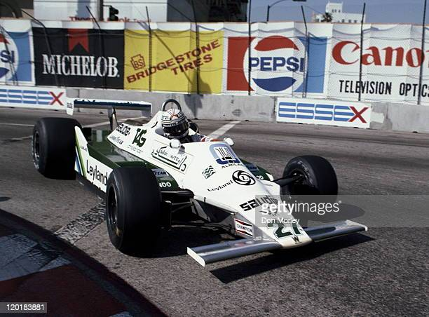 Alan Jones drives the AlbiladWilliams Racing Team Williams FW07B Ford Cosworth DFV 30 V8 during the Toyota United States Grand Prix West on 30th...