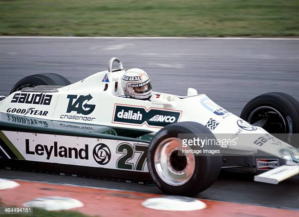 Alan Jones racing a WilliamsCosworth FW07B British Grand Prix Brands Hatch Kent 1980 He finished first in this race and became World Champion in this...