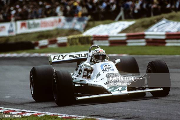 Alan Jones, Williams-Ford FW07, Grand Prix of Great Britain, Brands Hatch, 13 July 1980. Alan Jones on the way to victory in the 1980 Grand Prix of...