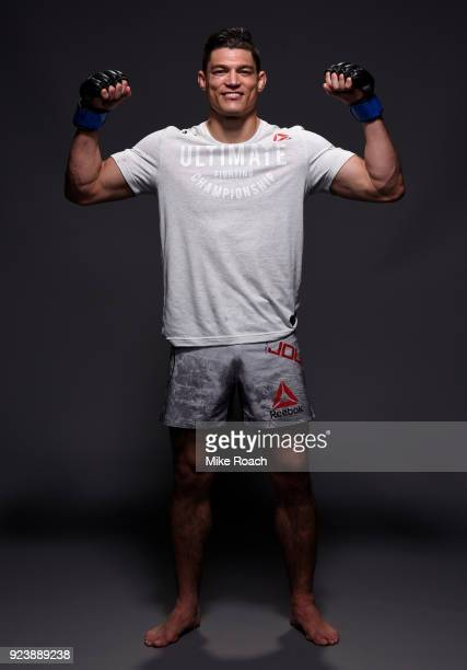 Alan Jouban poses for a portrait backstage after his victory over Ben Saunders during the UFC Fight Night event at Amway Center on February 24 2018...