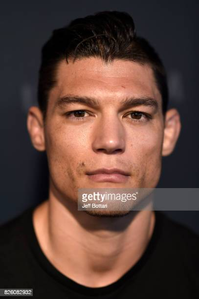 Alan Jouban poses for a portrait during the UFC Ultimate Media Day at the W Hotel on August 3 2017 in Mexico City Mexico