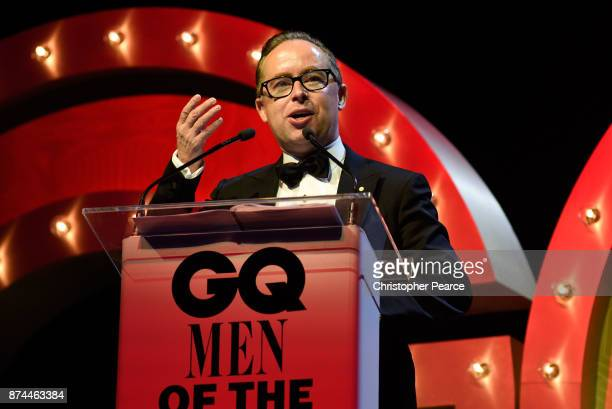 Alan Joyce accepts the award for Business Leader of the Year during the GQ Men Of The Year Awards Ceremony at The Star on November 15 2017 in Sydney...