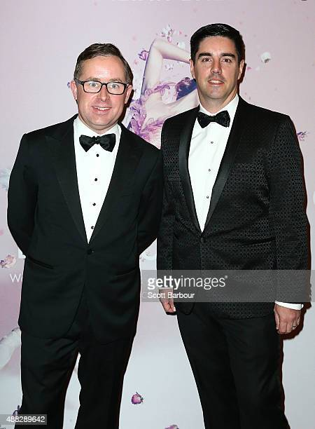 Alan Joyce CEO of Qantas Airways and Shane Lloyd attend the Australian Ballet's 'The Sleeping Beauty' opening night at Arts Centre Melbourne on...