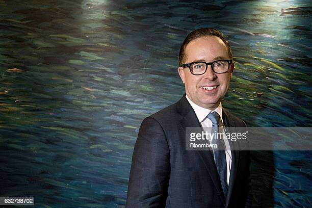 Alan Joyce chief executive officer of Qantas Airways Ltd poses for a photograph in Beijing China on Thursday Jan 26 2017 Qantas plans to expand its...