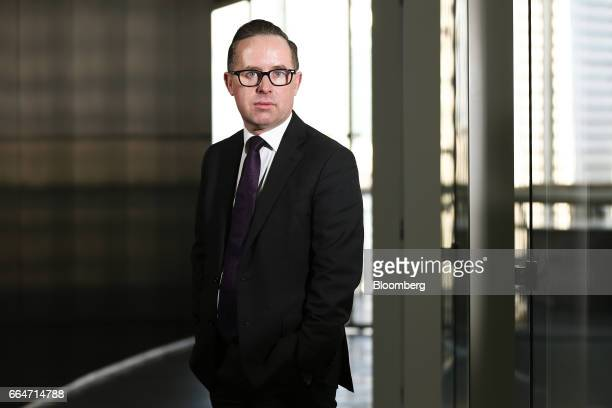 Alan Joyce chief executive officer of Qantas Airways Ltd poses for a portrait in Sydney Australia on Tuesday April 4 2017 The flood of cheapChinese...
