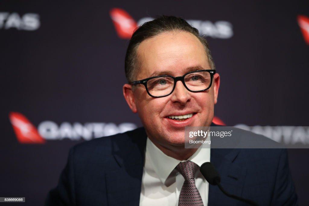 Qantas Airways Ltd. CEO Alan Joyce Presents Full-Year Results