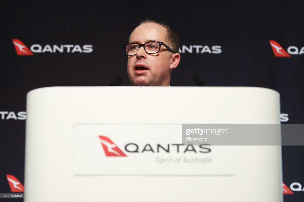 Qantas Airways CEO Alan Joyce Presents Half-Year Results