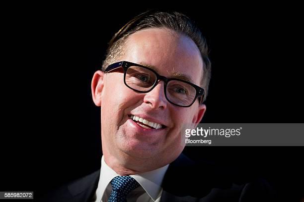 Alan Joyce chief executive officer of Qantas Airways Ltd speaks during the CAPA Australia Pacific Summit 2016 in Brisbane Australia on Friday Aug 5...