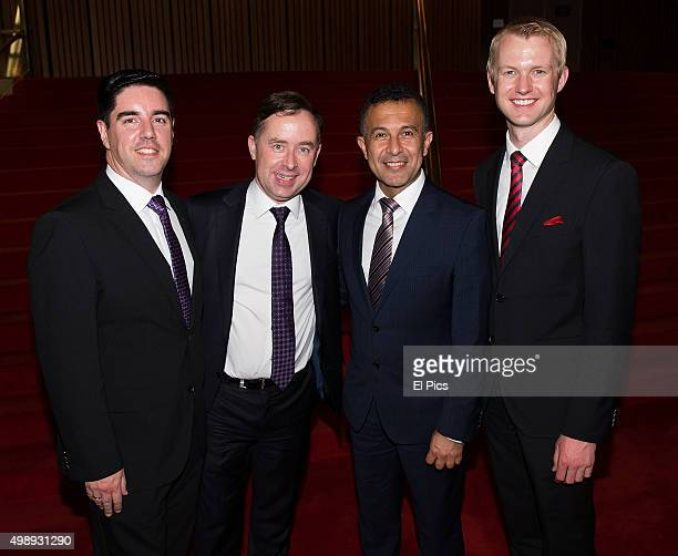 Alan Joyce Shane Lloyd Michael Ebeid and Roland Hewlett attend the Australian Ballet Sleeping Beauty Opening Night on November 27 2015 in Sydney...