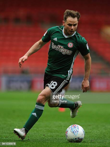 Alan Judge of Brentford during the Sky Bet Championship match between Bristol City and Brentford at Ashton Gate on April 2 2018 in Bristol England