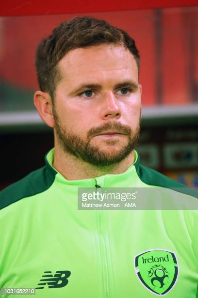 Alan Judge of Republic of Ireland looks on during the international friendly match between Poland and Republic of Ireland at the Stadion Miejski on...