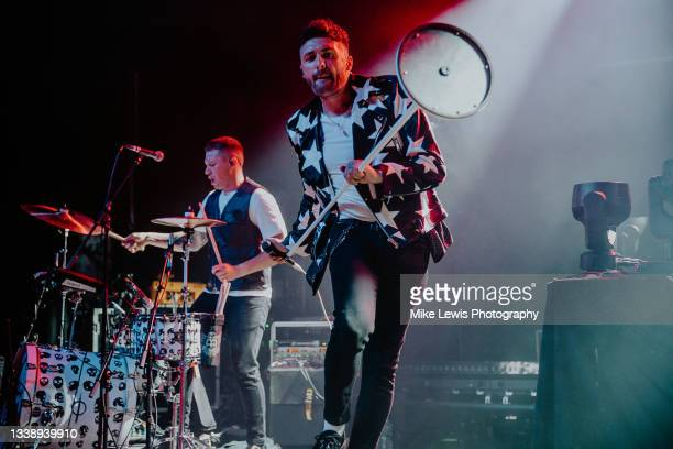 Alan Jukes and Stevie Jukes of Saint PHNX perform at O2 Academy Bristol on September 06, 2021 in London, England.