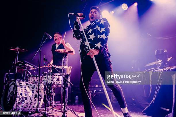 Alan Jukes and Stevie Jukes of Saint PHNX perform at O2 Academy Bristol on September 06, 2021 in Bristol, England.