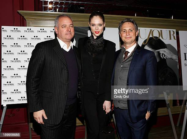 Alan Katz Coco Rocha and Jason Binn attend DuJour Magazine Gala with Coco Rocha and Nigel Barker presented by TW Steel at Scott Sartiano and Richie...