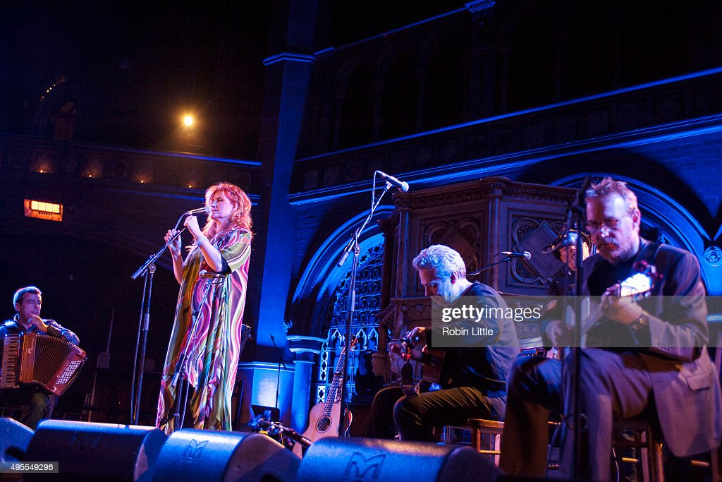 Alan Kelly, Eddi Reader, John Douglas and Boo Hewerdine perform in the London Folk and Roots Festival at the Union Chapel on November 3, 2015 in London, England.