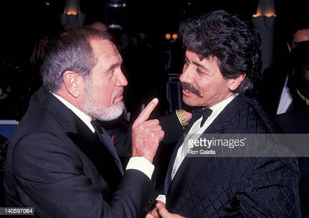 Alan King and Edward James Olmos at the Streetcar Benefit Gala Barrymore Theater New York City