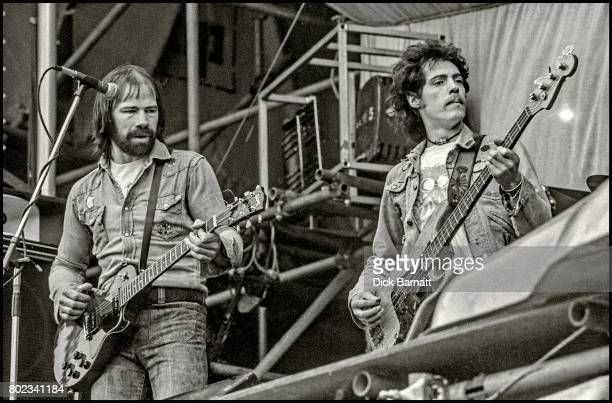 Alan King and Terry Comer of Ace performing on stage at Stoke FC's Victoria Ground Stoke On Trent United Kingdom May 17th 1975