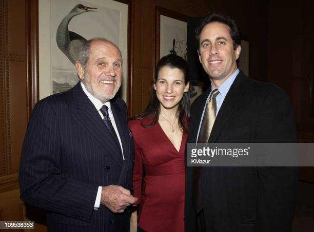 Alan King Jessica Seinfeld and Jerry Seinfeld during Tony Bennett and Columbia Records Chairman Don Ienner Host Party for Frank Sinatra School of the...