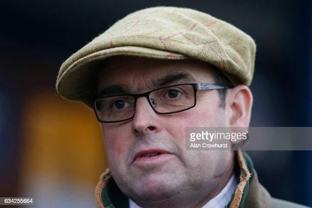 Alan King poses at Ludlow racecourse on February 8 2017 in Ludlow England