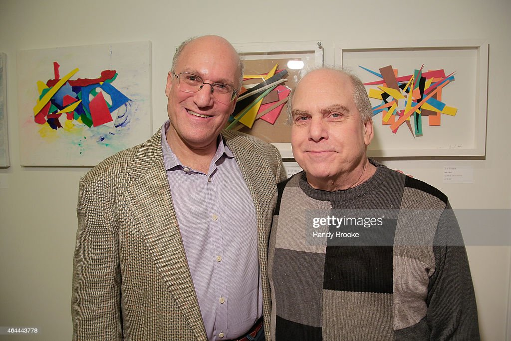 Alan Klingenstein (R) and guest attend FilmRise Celebrates new office in Industry City, Brooklyn at FilmRise on February 25, 2015 in Brooklyn, New York.