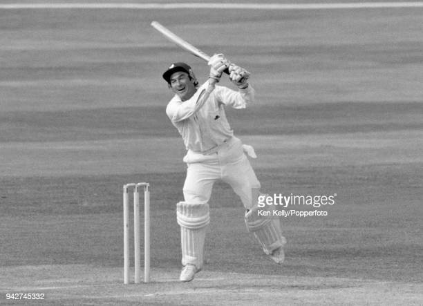 Alan Knott batting England during the 6th Test match between England and Australia at The Oval London 29th August 1981 The match ended in a draw and...