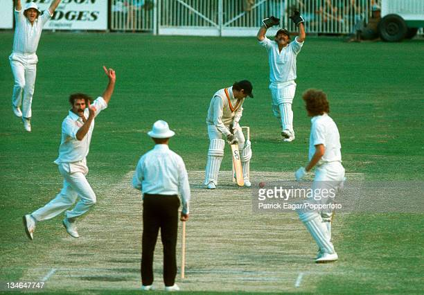 Alan Knott is lbw Lillee and Australia win, Australia v England, Centenary Test, Melbourne, Mar 1976-77.