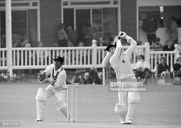 Alan Knott of Kent batting during the tour match between Kent and India at the St Lawrence Ground Canterbury 3rd July 1971 The wicketkeeper for India...
