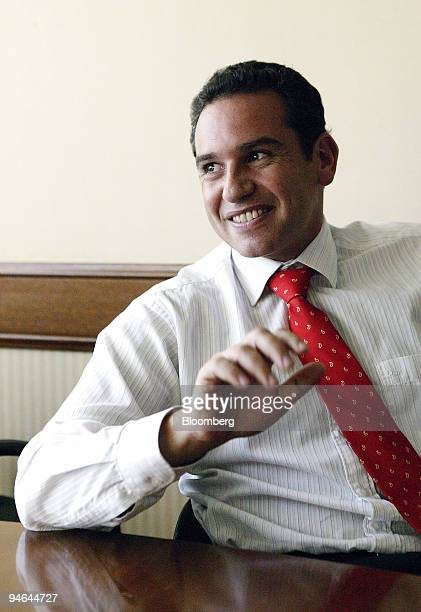 Alan Krausz a lawyer with Defensas Judiciales poses in his office in Santiago Chile Tuesday April 10 2007 Chilean couples are getting divorced at an...
