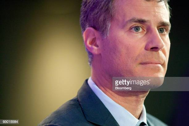 Alan Krueger chief economist and assistant secretary of economic policy with the US Department of the Treasury listens to a question during the...