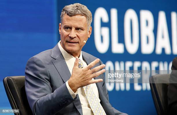 Alan Krueger former chairman of the White House Council of Economic Advisers speaks during the annual Milken Institute Global Conference in Beverly...