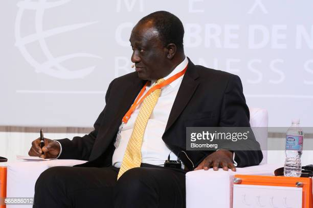Alan Kyerematen Ghana's former minister of trade listens during the Mexico Business Summit in San Luis Potosi Mexico on Tuesday Oct 24 2017 The 15th...