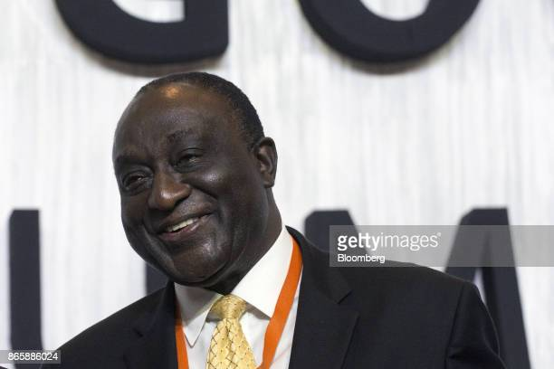 Alan Kyerematen Ghana's former minister of trade smiles during the Mexico Business Summit in San Luis Potosi Mexico on Tuesday Oct 24 2017 The 15th...